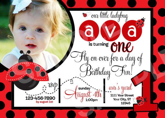 Hey, I found this really awesome Etsy listing at https://www.etsy.com/listing/156825636/ladybug-birthday-invitation-printable