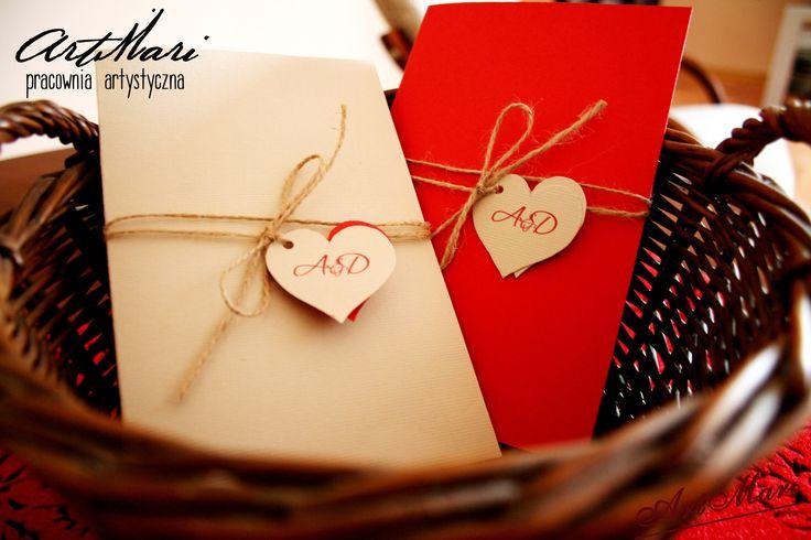 oryginalne zaproszenie ślubne w stylu rustykalnym