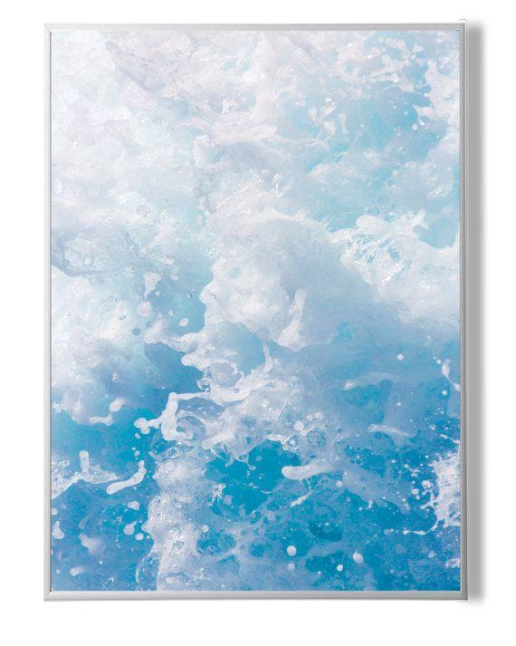 Ocean Waves Print Ocean Wall Art Water PrintBlue от YourPrintsShop