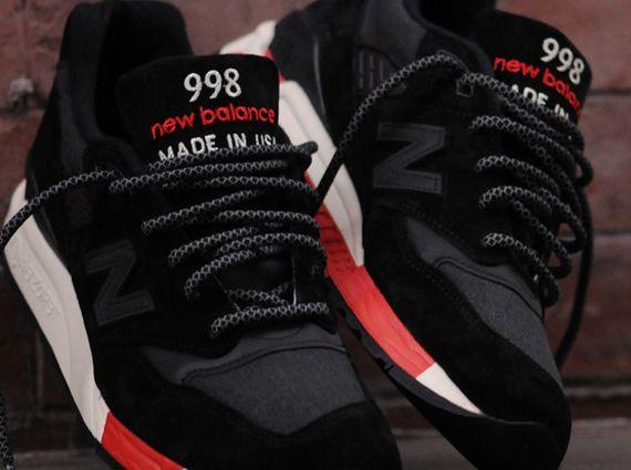 New Balance 998 – Black – Red
