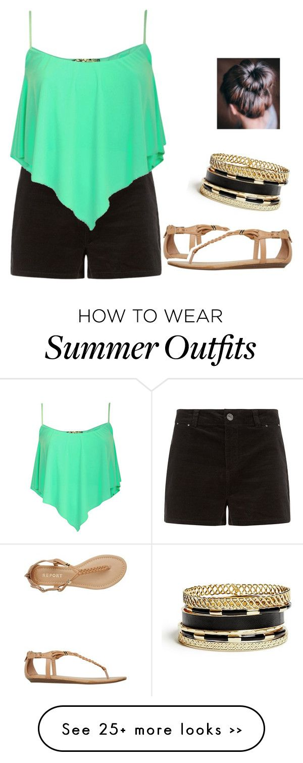 """Dinner a outfit For Summer"" by arianasmith5672 on Polyvore featuring Report and GUESS"