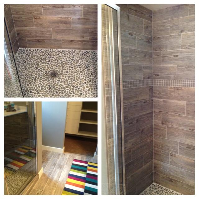 I Like The Wood Ceramic Tile   For The Bathroom. But Darker Tile.