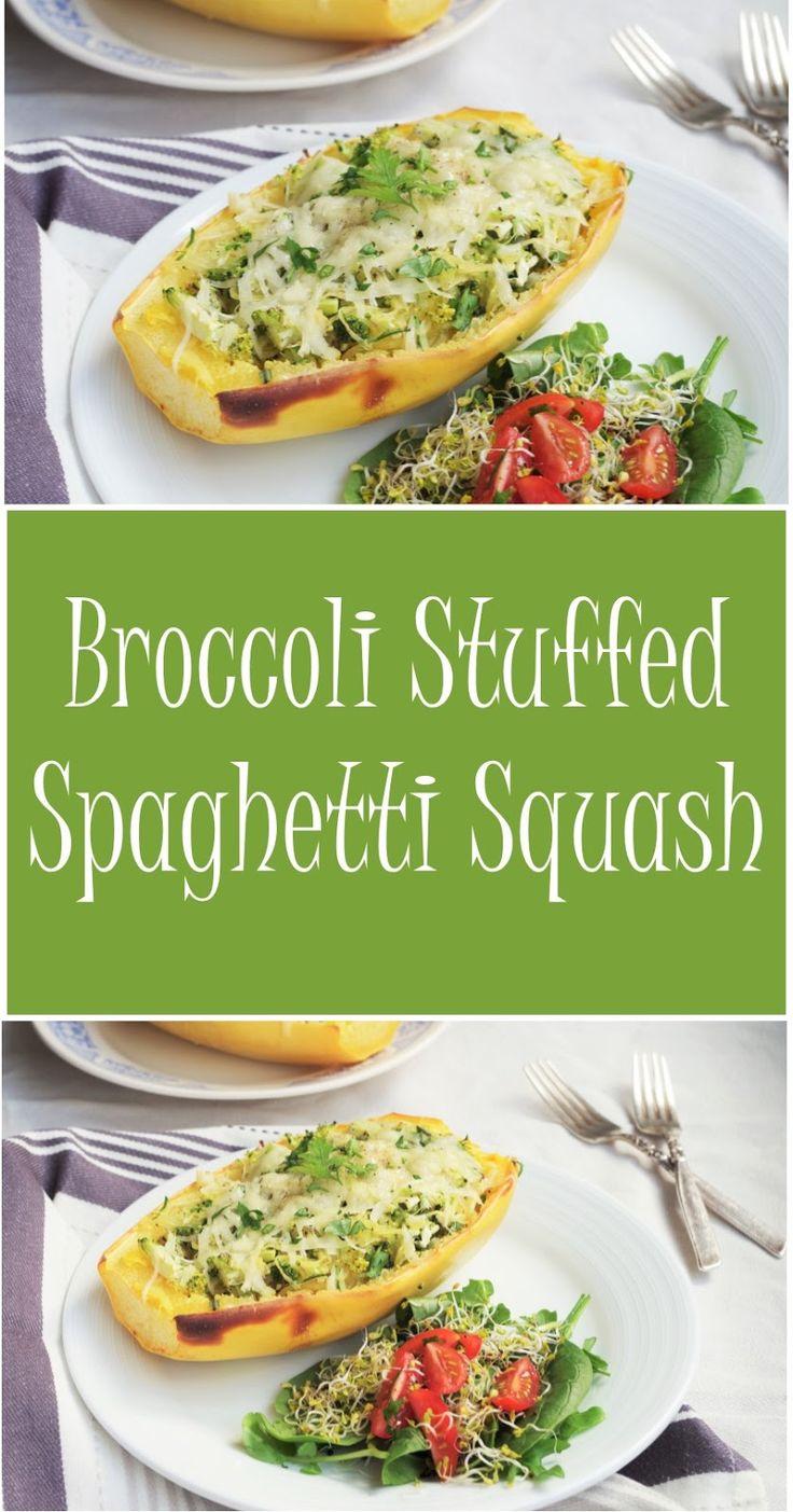 Broccoli Stuffed Spaghetti Squash |Euphoric Vegan