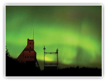 Abandoned copper mine and Northern Lights in Michigan's Keweenaw Peninsula... Gorgeous place to camp!