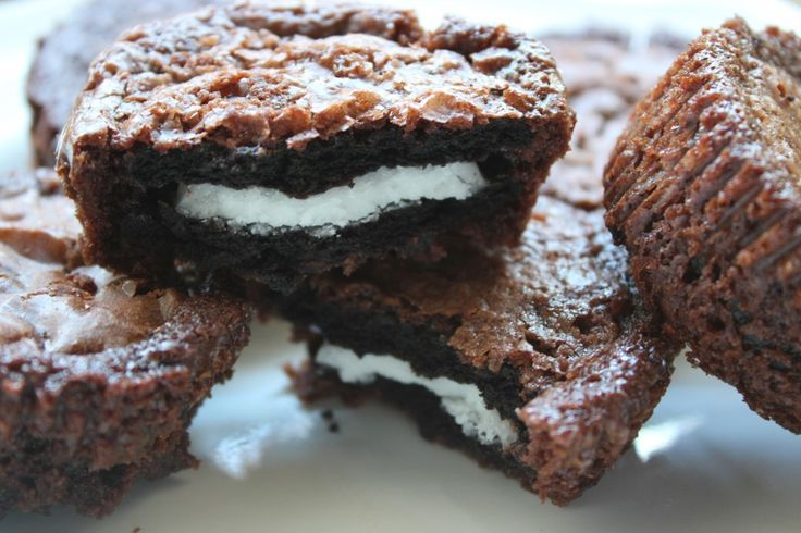 Brownie Covered Oreos...um yes. Made these with a friend and her family. Horrible for you, but they taste amazing, especially when they are still warm. My score: 10...try them.