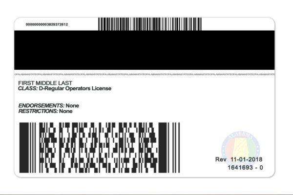 Alalabama Driver License Psd Template High Quality Photoshop Template Templates Id Card Template Psd Templates
