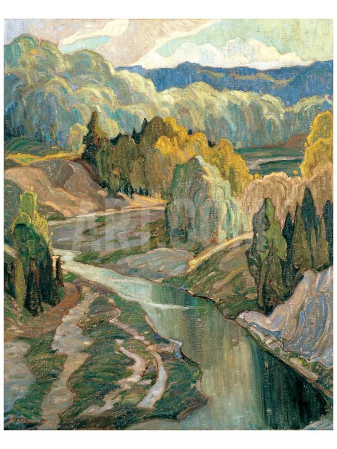The Valley, c.1921 Premium Giclee Print by Franklin Carmichael at Art.com