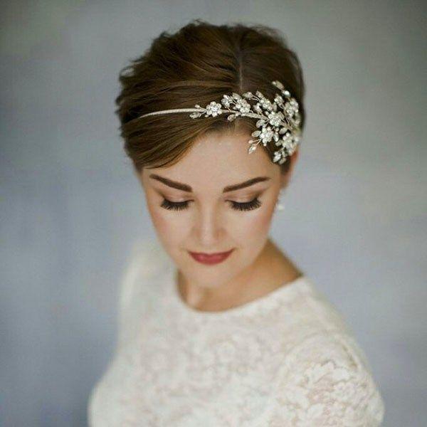 Noble Kurzhaar-Hochzeitsfrisuren für kurzes Haar 2019   – Wedding