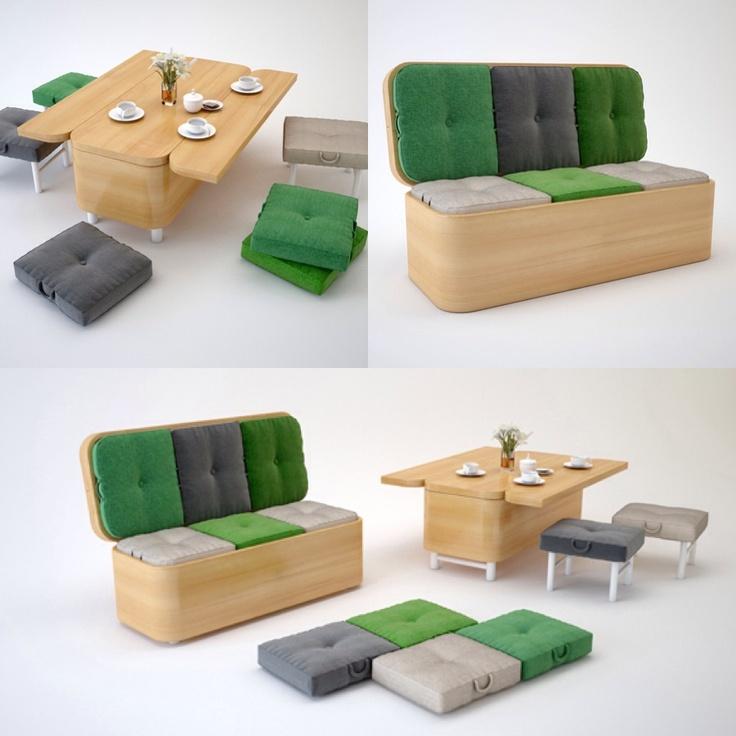 el mobiliario multifuncional es la tendencia de hoy no