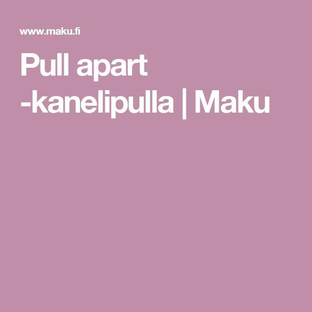 Pull apart -kanelipulla | Maku