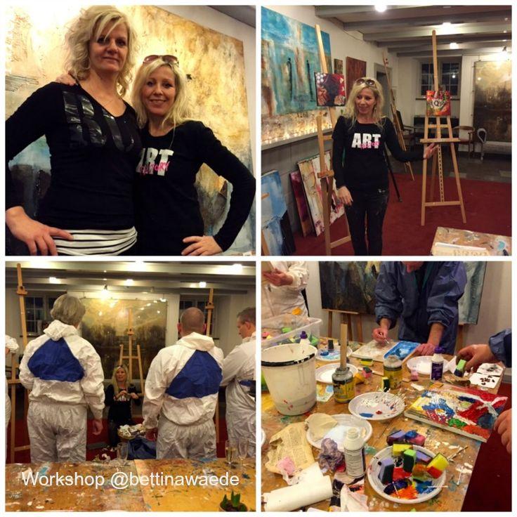 Charlotte og jeg afholdte workshop i går, foredrag, mental workout, maling af billede awesome..