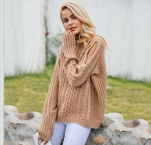 Warm Cold Shoulder Sweater