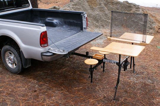 Hitch mounted shooting bench!