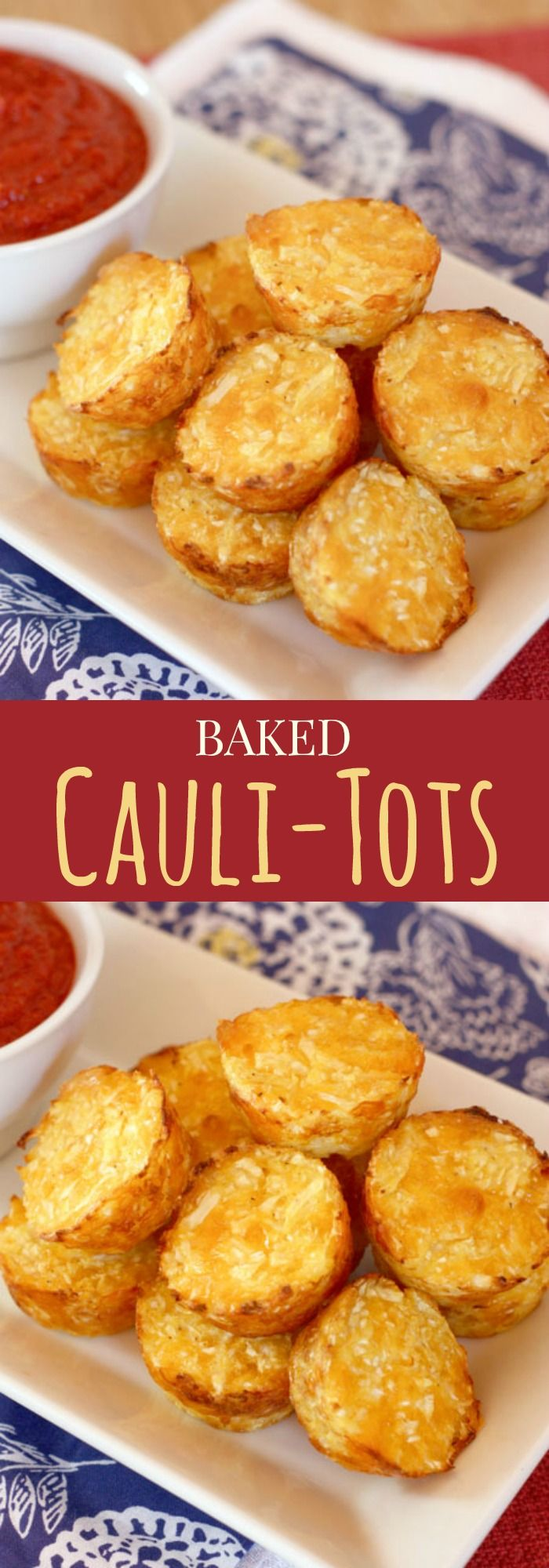 Baked Cauli-Tots - move over tater tots, there's a healthier and veggie-packed new side dish in town! This is our family favorite, plus get my pro tips for perfect cauliflower tots! | cupcakesandkalechips.com | gluten free, vegetarian