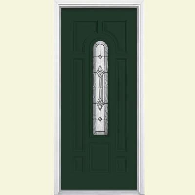 Masonite Providence Center Arch Painted Steel Entry Door with Brickmold - 39356 - The Home Depot