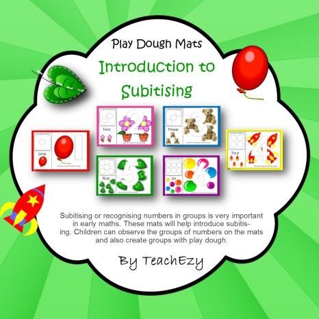 #Subitising Play Dough Mats. #EYLF Outcome 4.1 Children develop dispositions for learning. www.earlychildhoodteachezy.com