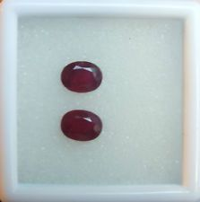 PAIR OF MADAGASCAN RUBIES, 4.28 CARATS, 8 X 6 MM OVAL CUT, IDEAL FOR EARRING SET