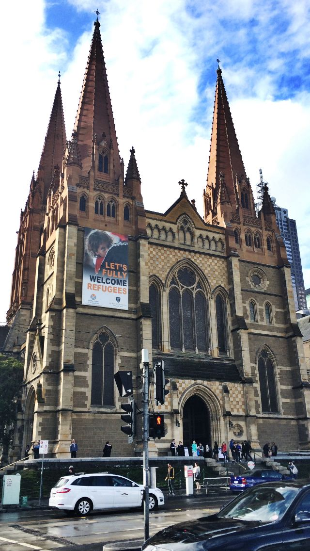 St. Paul's Cathedral, Melbourne. (1880 - 2009)  Stone. Designed by William Butterfield and John Barr.