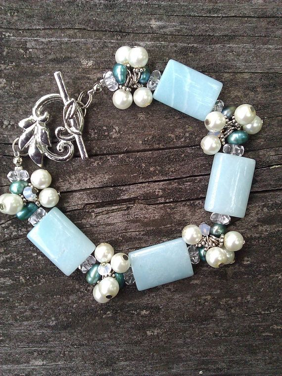 Amazonite Cluster Bracelet | Jewelry~This Could Be DaNgErOuS! | Pinterest | Jewelry, Beads and Bracelets