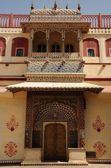 Jaipur India. This was the fort we rode elephants up to. Up in that balcony were a couple musicians