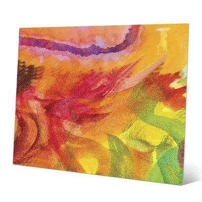 "Click Wall Art 'Lumaca' Print of Painting on Metal Size: 20"" H x 30"" W x 0.04"" D"