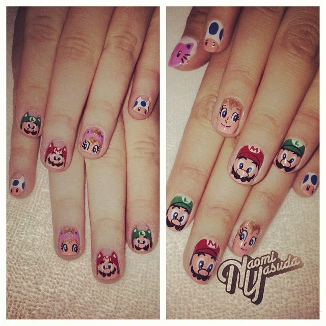 Chocolate Nails Art Game Online Nail Games: 10+ Images About Nintendo Nail Art On Pinterest