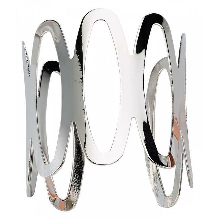 Ladies bronze Design Ovales oval silver bangles - Franchini