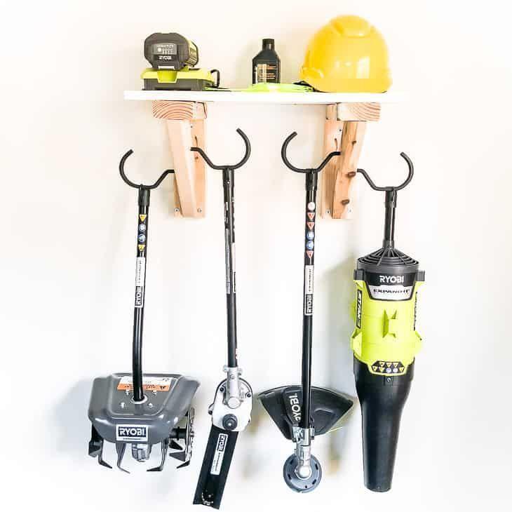 Easy Diy Garden Tool Rack Garden Tool Rack Garden Tool Storage Garden Tools