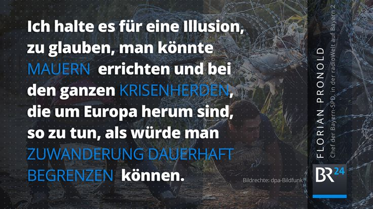 Auf Zuwanderung einstellen, statt Mauern errichten, fordert @bayernspd-Chef @FlorianPronold auf @bayern2. #Orban