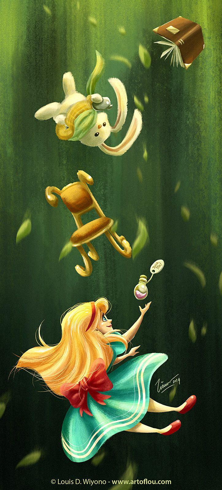 Alice In Wonderland - by Louis D. Wiyono, Wizmaya Design Studio  #illustration #kidlitart #disney #kidlitart