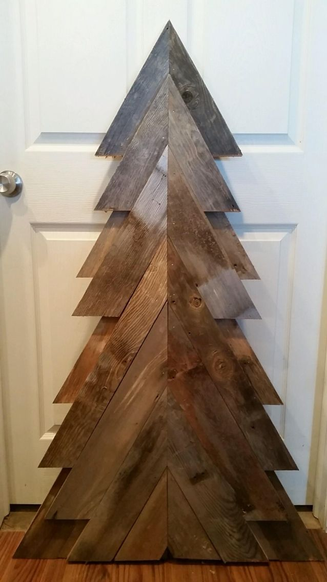 Barn board christmas tree our diy home projects