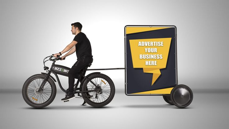 The Adbike Trailer - a lightweight and low-cost bicycle mobile billboard for outdoor advertising.