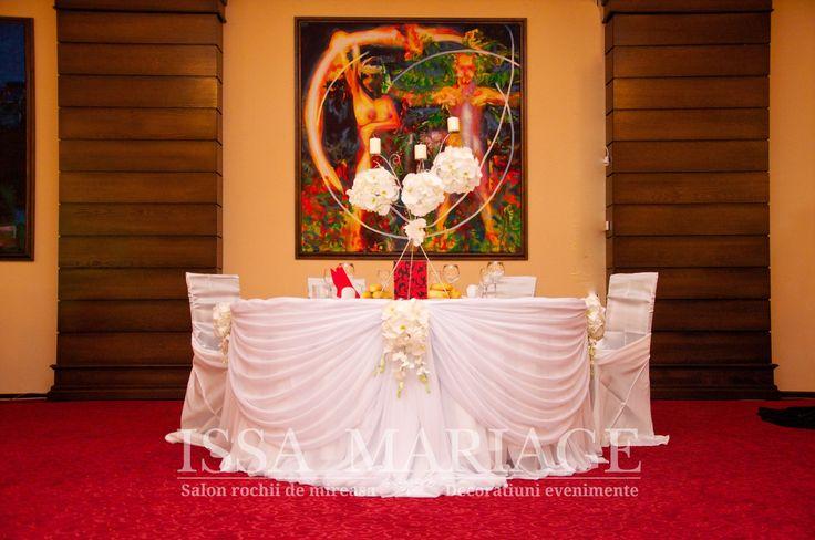 decoratiuni masa de prezidiu nunta issamariage  2017
