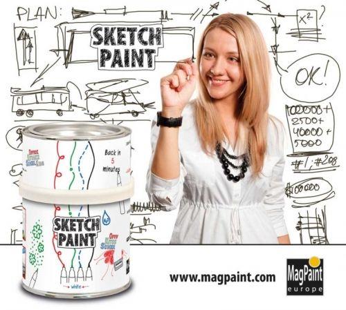 ホワイトボードペイント・スケッチペイントは、場所を選ばず好きなところで、字を書いたり、絵を描いたり。壁や戸棚、クローゼットから扉、木部、内装壁にスケッチペイントを塗るだけで、どんな場所でも使えます。 塗装仕上げがなめらかであるほど、簡単に消すことができます。