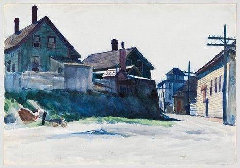 Edward Hopper, Back Street  Gloucester on ArtStack #edward-hopper #art