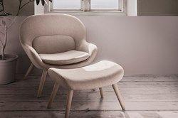Philippa, skapt av designgruppen Busetti Garuti Redaelli, har en organisk form og myk komfort i høysetet.