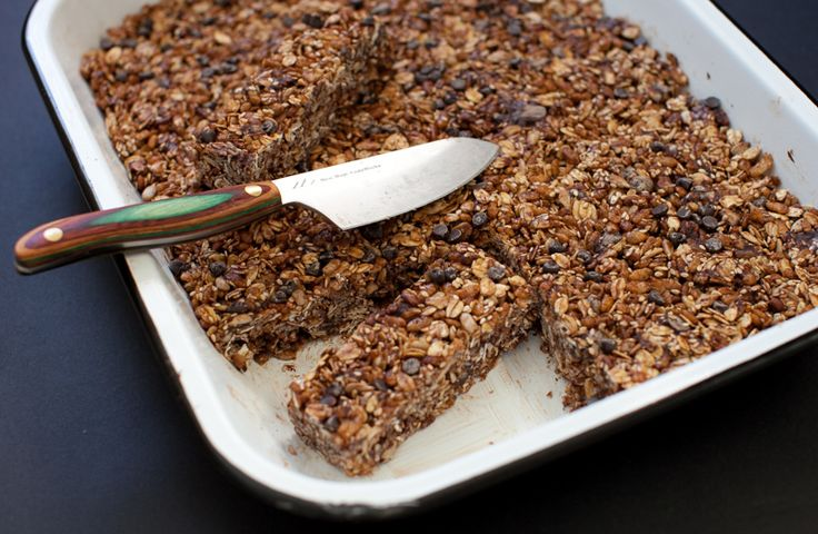 chocolate and oat cereal bars from simple bites. no baking required!