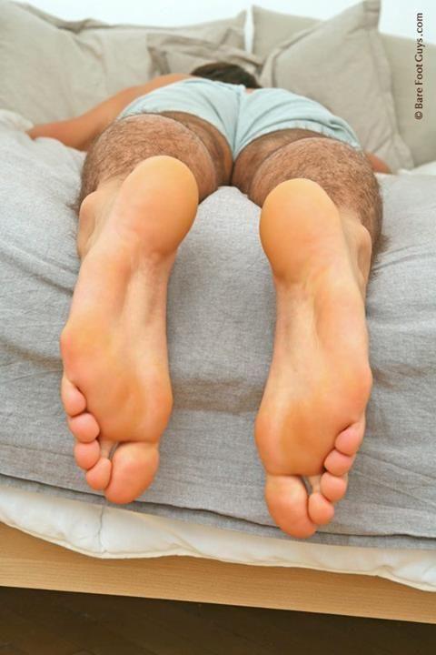 Worship sleeping male feet gay sucked and