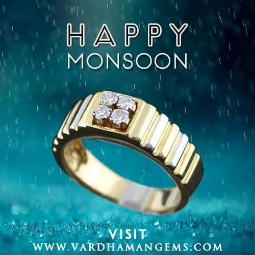 All Diamond Gents Ring Square Shape with Heavy Gold for Masculine look from http://www.vardhamangems.com/