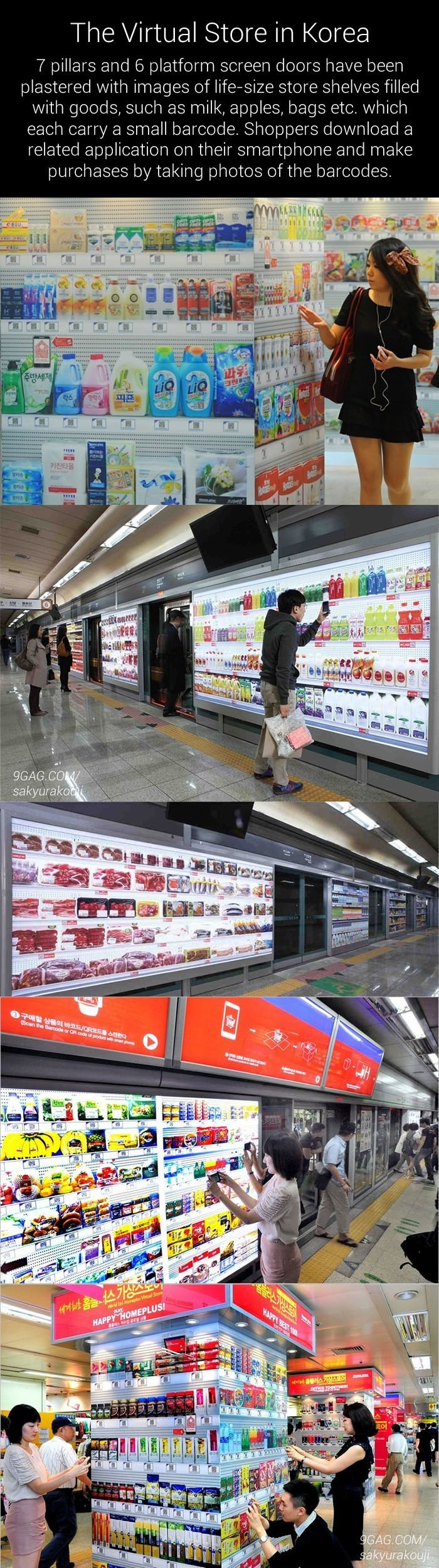 Virtual grocery store in South Korea