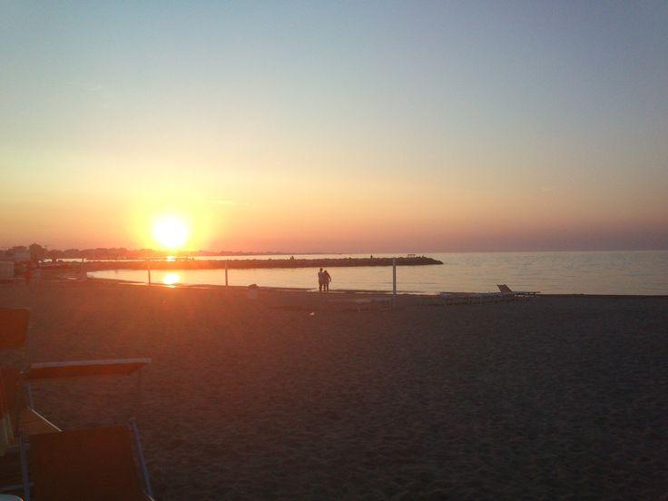 Rimini - Tramonto sulla spiaggia di San Giuliano