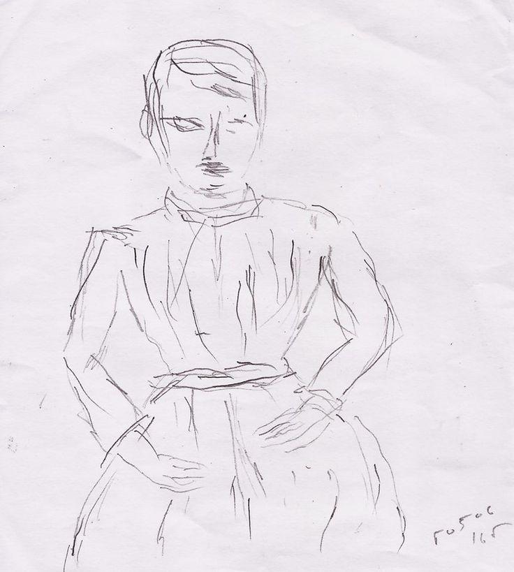 Woman (study / after Cézanne), by Yorgos ΖΗΤΩ (2016)