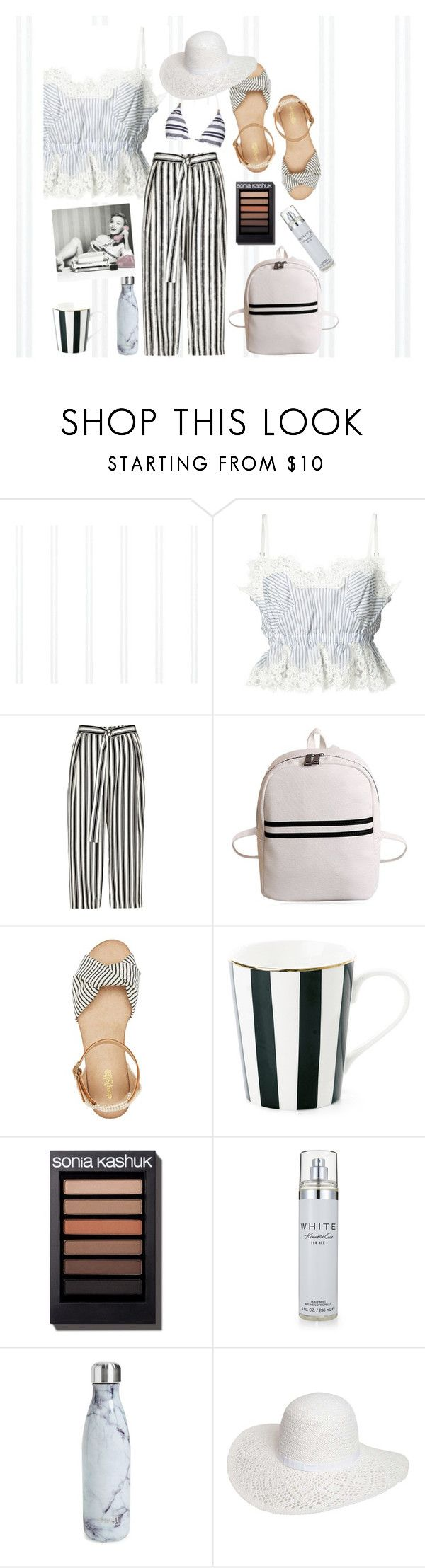 """xx"" by callmelessie on Polyvore featuring Sacai, River Island, Charlotte Russe, Kenneth Cole, S'well, Dorothy Perkins and Heidi Klein"