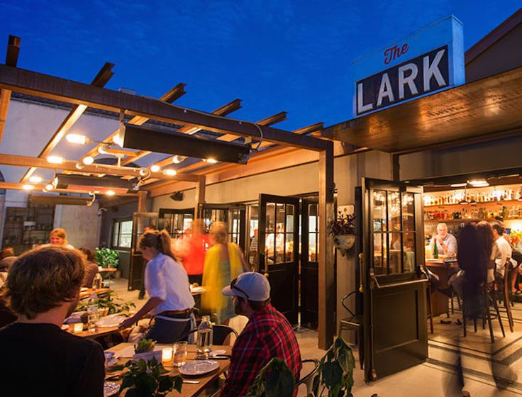 THE LARK  131 Anacapa St., Santa Barbara | 805.284.0370 Tucked inside the beloved Santa Barbara Fish Market, this indoor-outdoor—it's mostly outdoor, actually—restaurant is named after the overnight train that's serviced this part of California for the first half of the last century (which also explains the vintage train booths)