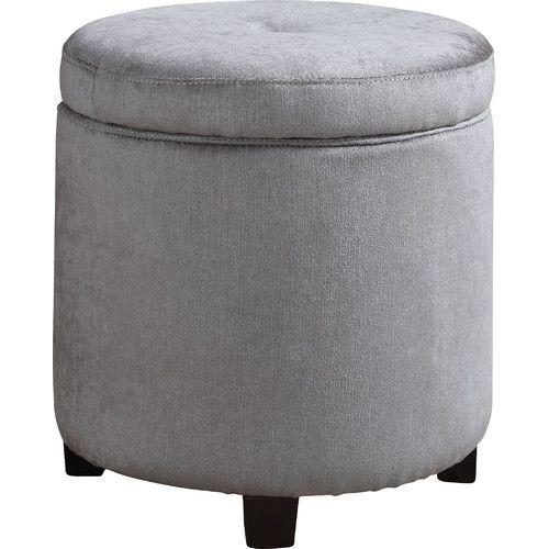 AC Pacific Bohn Small Round Storage Ottoman