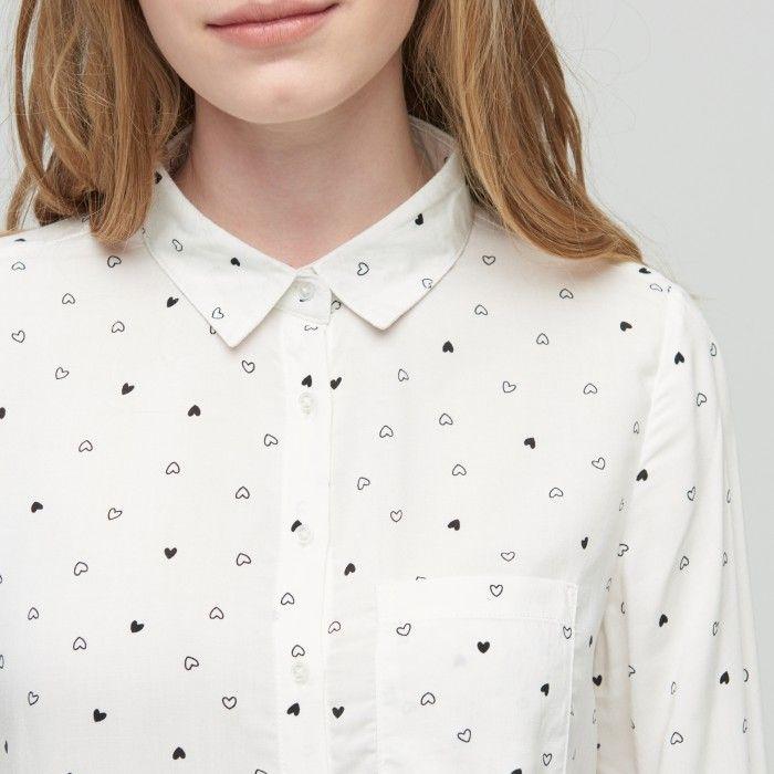 Viskózová košile s potiskem, CROPP