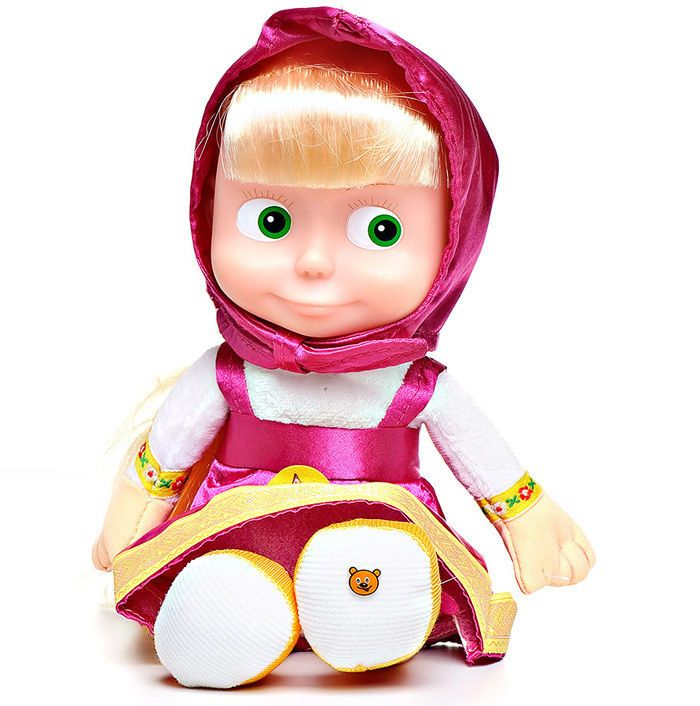 Masha and the Bear SOFT TOY MASHA sings and talks. 22 СM Masha doll toys #MultiPulti