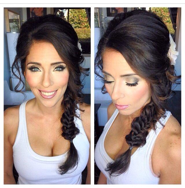 Fishtail Braid Wedding Makeup Smokey Eyes Bridal Makeup