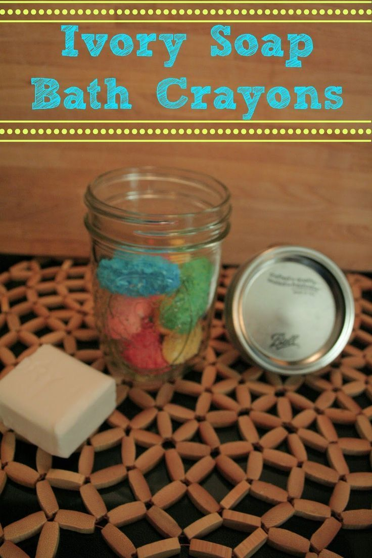 DIY Bath Crayons made with ivory soap and food coloring, so easy to make and a fun craft for kids