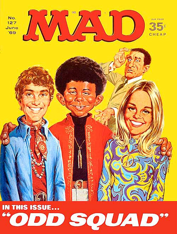 Mad Magazine June 1969 The Mod Squad Parody The Swingin Sixties Pinterest Songs Mad